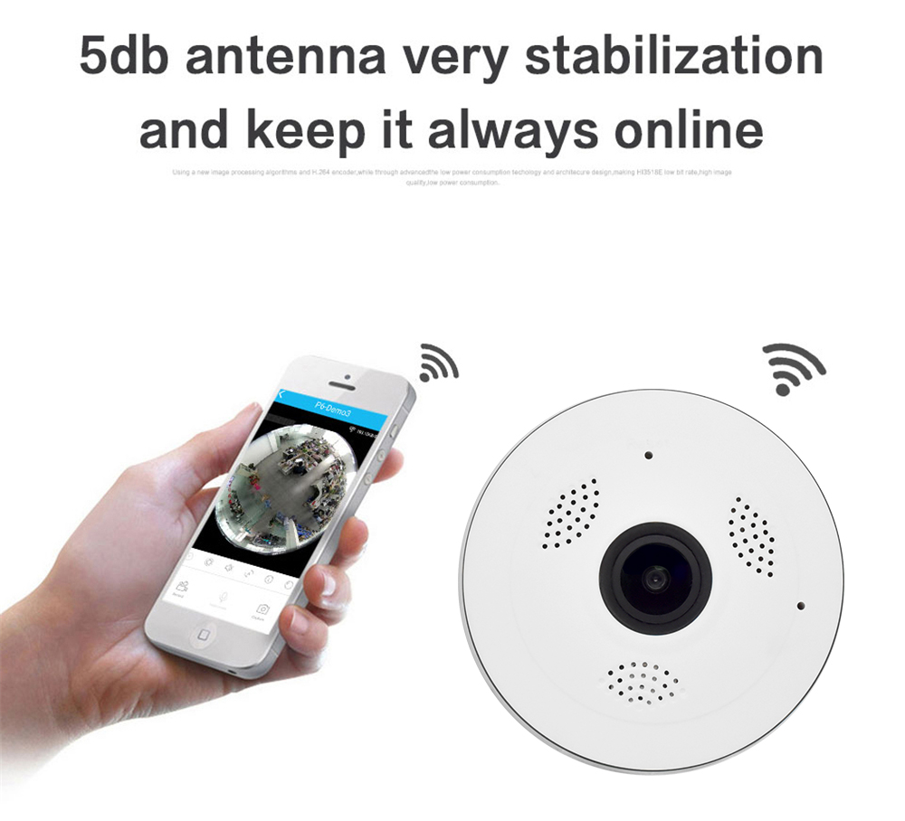 Wistino CCTV HD 960P WIFI IP Camera Alarm Wireless VR Panoramic Camera Fisheye 360 Degree Video Baby Monitor Home Surveillance (11)