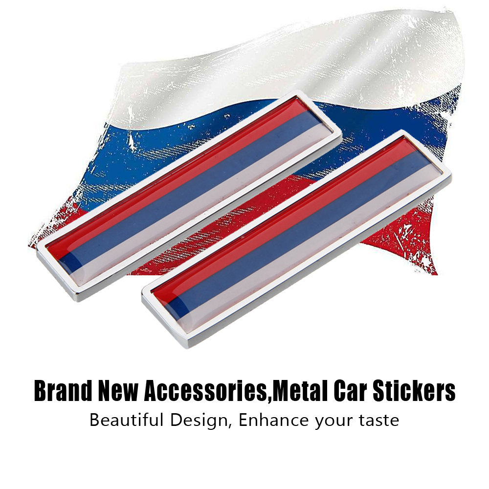 Russain Flag Universal Car Styling Decoration Decal Side Door Sticker for Bmw E46 Ford Focus 2 Volkswagen Golf Toyota Peugeot