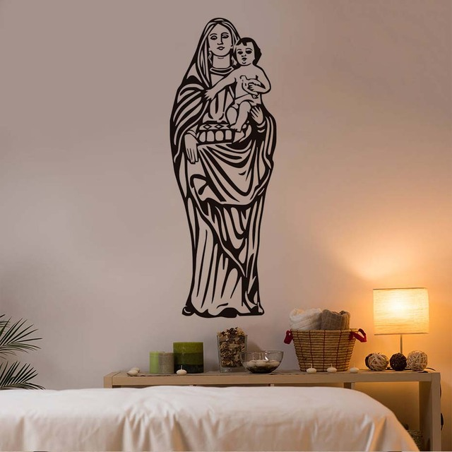 DCTOP Our Lady Of Guadalupe Virgin Mary Catholic Wall Sticker Home Decor  Wall Mural Art Removable