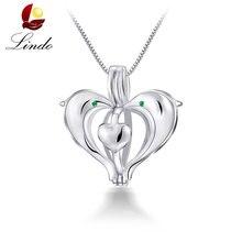 f8226a82351a Calidad superior de la plata esterlina 925 al por mayor colgantes jaula Lot  moda mujeres sin perla DIY corazón joyería 3 unids l.