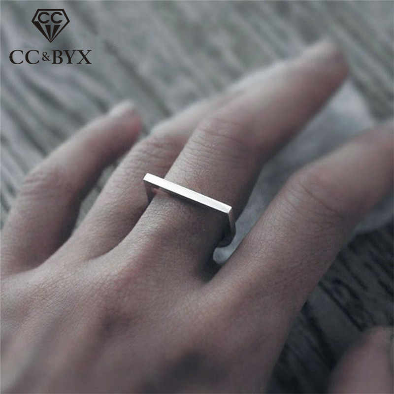 CC Pure 925 Silver Rings For Women Simple Design Minimalis Office Ring Fashion Jewelry Anillos Mujer Accessories CC4002