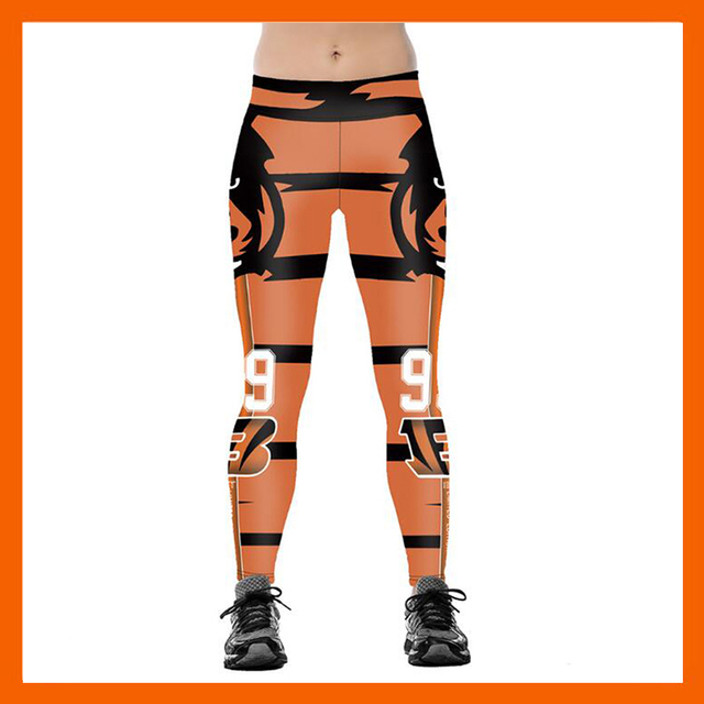 CINCINNATI BENGAL S 3D PRINT WOMEN LEGGINGS HIGH WAIST LEGGING STEELERS  PRINTED WOMEN PANTS SLIM FITNESS LEGGINS 98eaf46e59