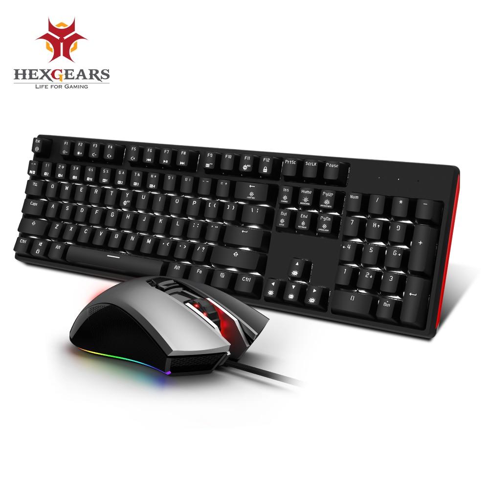 Hexengrenages GK705 clavier mécanique d'échange à chaud GM33 5000 DPI souris de jeu clavier Combo souris ensemble Kailh boîte commutateur souris clavier