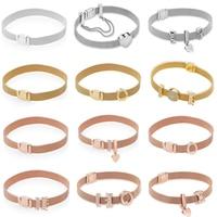 KAKANY Classic REFLEXIONS Bracelet Series Fit Pandora Bracelet silver 925 original High quality 1:1 fashion jewelry DIY