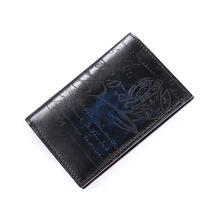 TERSE_Handmade leather short wallet Italian calfskin genuine leather purse with engraving luxury purse in 3 colors custom logo