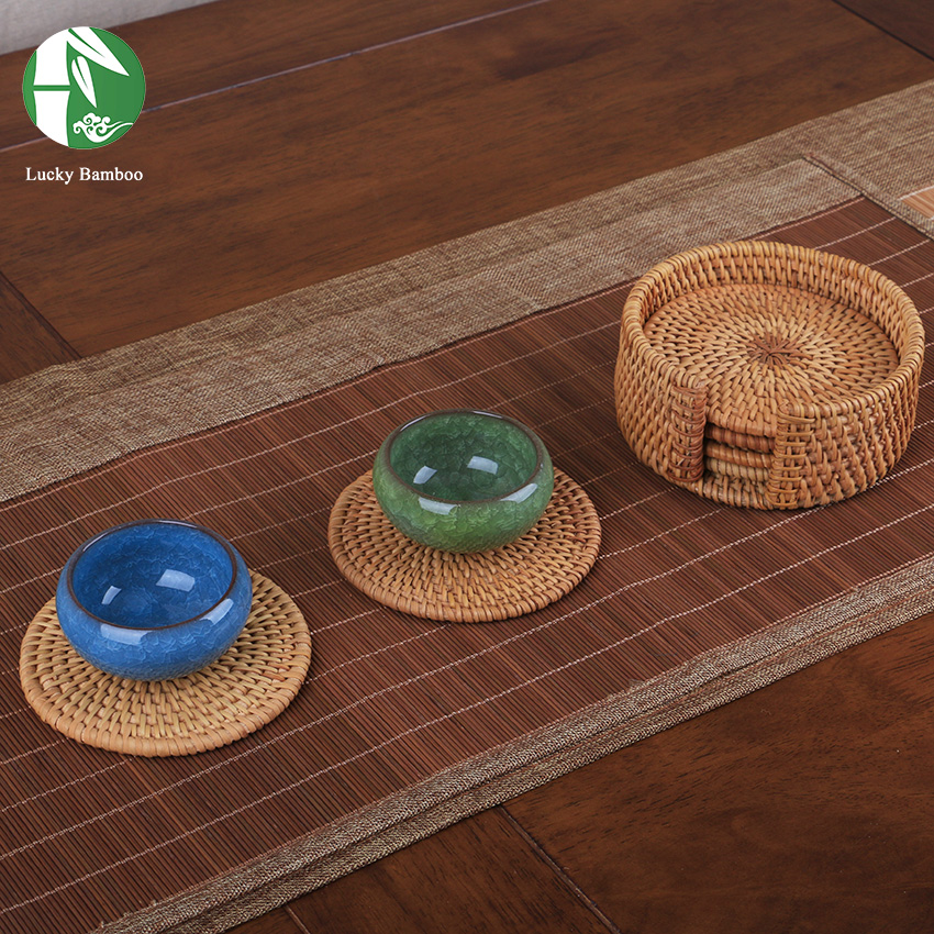 Compare prices on round rattan placemats online shopping for Table placemats