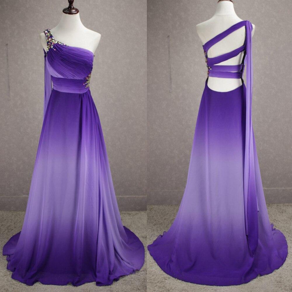2017 gradient ombre prom dresses long cheap chiffon unique for Formal dresses for weddings cheap