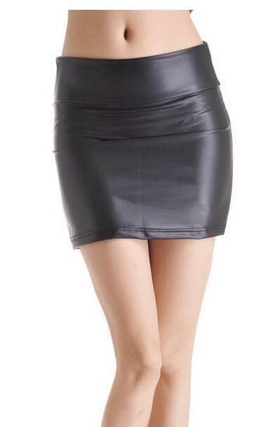 Mat Hoge Zakken Heup Halflange Leren rok 2020 Mode Sexy Dames Meisjes - Dameskleding
