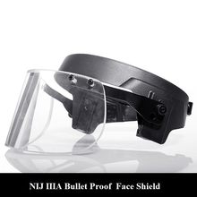 Bulletproof visor for M88 helmet with Alloy Steel Fix Ring Ballistic Face Shield for Mich helmet Personal self defense weapons(China)