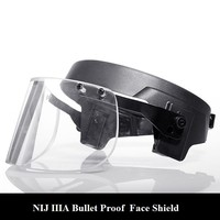 Bulletproof visor for M88 helmet with Alloy Steel Fix Ring Ballistic Face Shield for Mich helmet Personal self defense weapons