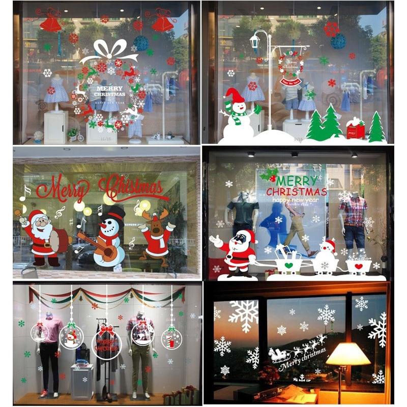 2015 Christmas Decorations Stickers Decorate Glass Door Window