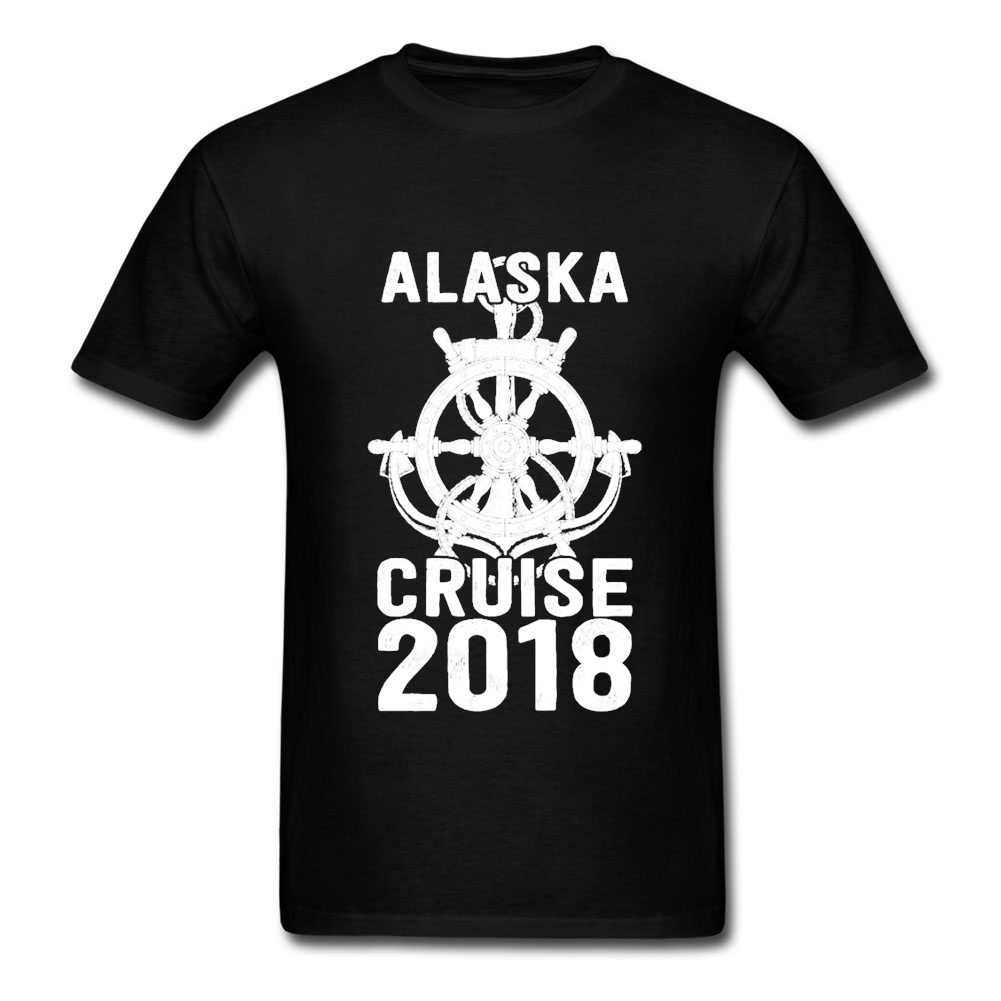 Designs T-Shirt for Men Going Out Adult Man T Alaska Cruise 2019 O-Neck Funny Quilt T Formal Blouses image