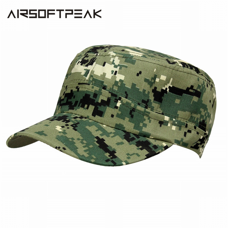 e01cacdb78efb Outdoor Men Hunting Cap Snapback Stripe Caps Casquette Camouflage Hat  Military Army Tactical Peaked Sports Camping Hiking Sunhat-in Hunting Caps  from Sports ...