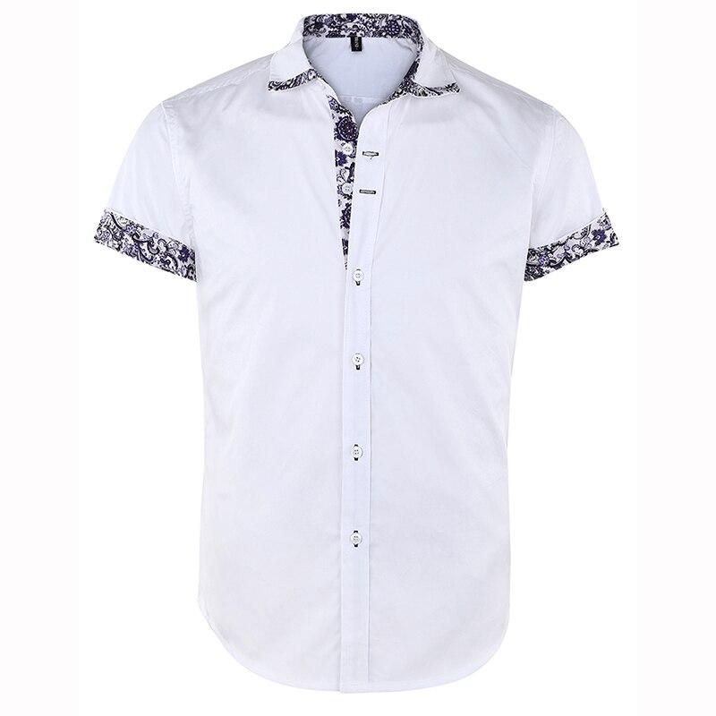 Men's Short Sleeve Floral Print  Casual Shirts