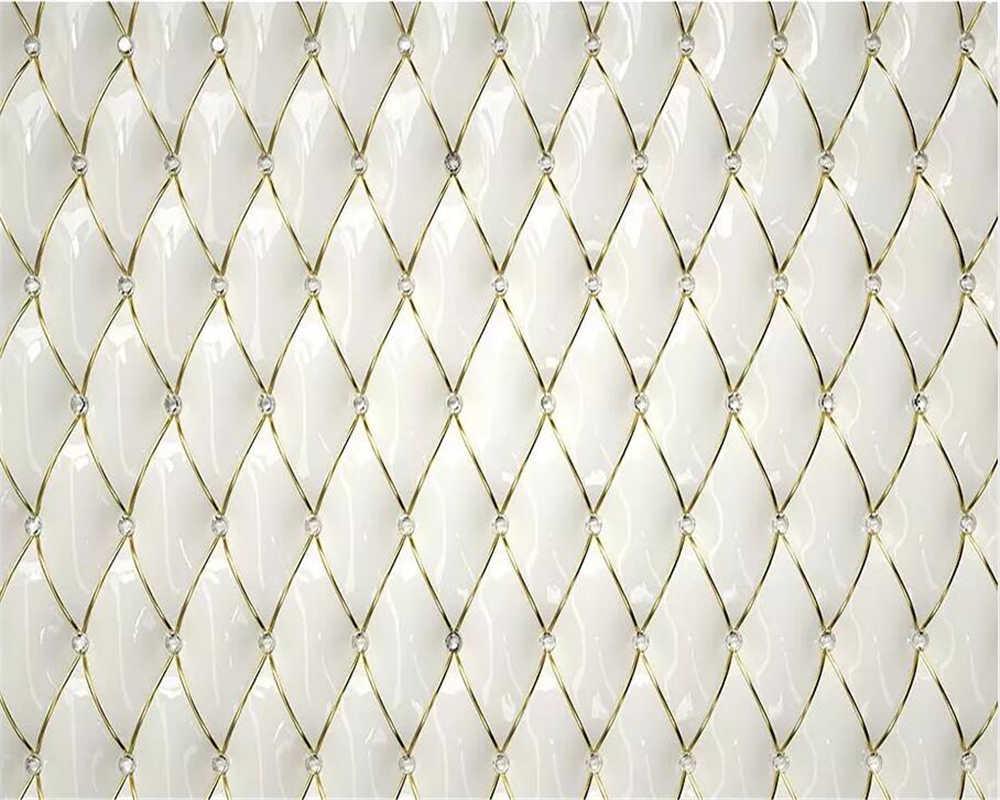 Beibehang пользовательские обои 3d Фреска Роскошный Золотой Кристалл ромбические сшивание 3d Европейский мягкий мешок задний план обои домашний декор