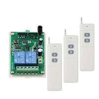 3000 M Điện Cao Đường Dài DC12V 24 V 2 CH 2CH RF Không Dây Điều Khiển Từ Xa Hệ Thống Chuyển Mạch, 315/433 Mhz, 3X Transmitter + Receiver
