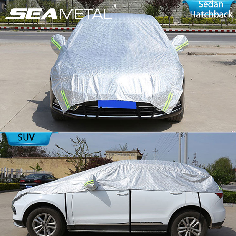 Car Cover Auto Window Sunshade Cover For Sedan Hatchback SUV PE Film Outdoor Snow Dust Rain UV Resistant Automobiles Accessories