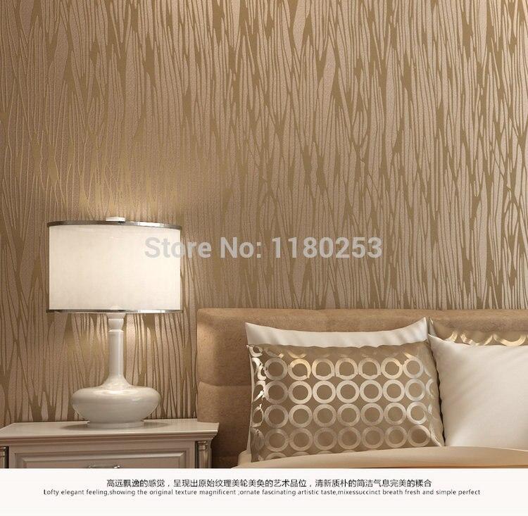 Décoration argent gaufré rayé papier peint rouleau Non tissé papier peint décor pour salon papel de parede 3d 53*1000 cm - 3