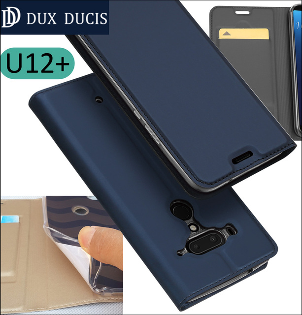 new style 85d32 8c2c5 US $8.99 |Original DUX DUCIS Case Cover For HTC U12 Plus Book Flip Leather  Wallet Coque U12+-in Flip Cases from Cellphones & Telecommunications on ...