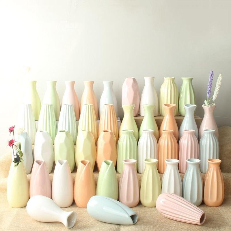 ٩(^‿^)۶5 unids/lote mini florero de cerámica maceta patrón diferente ...