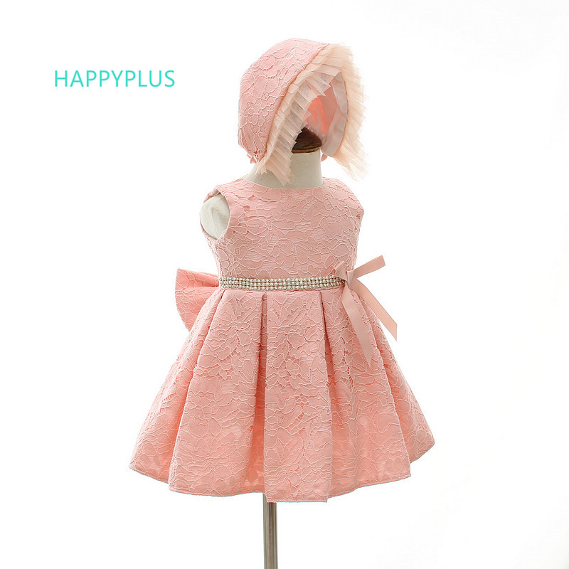 Us 1792 40 Offhappyplus Baby Lace Dress For Girls Christening White Pink Baby Shower Dress Infant Girl Wedding Birthday Party Dresses Baptism In
