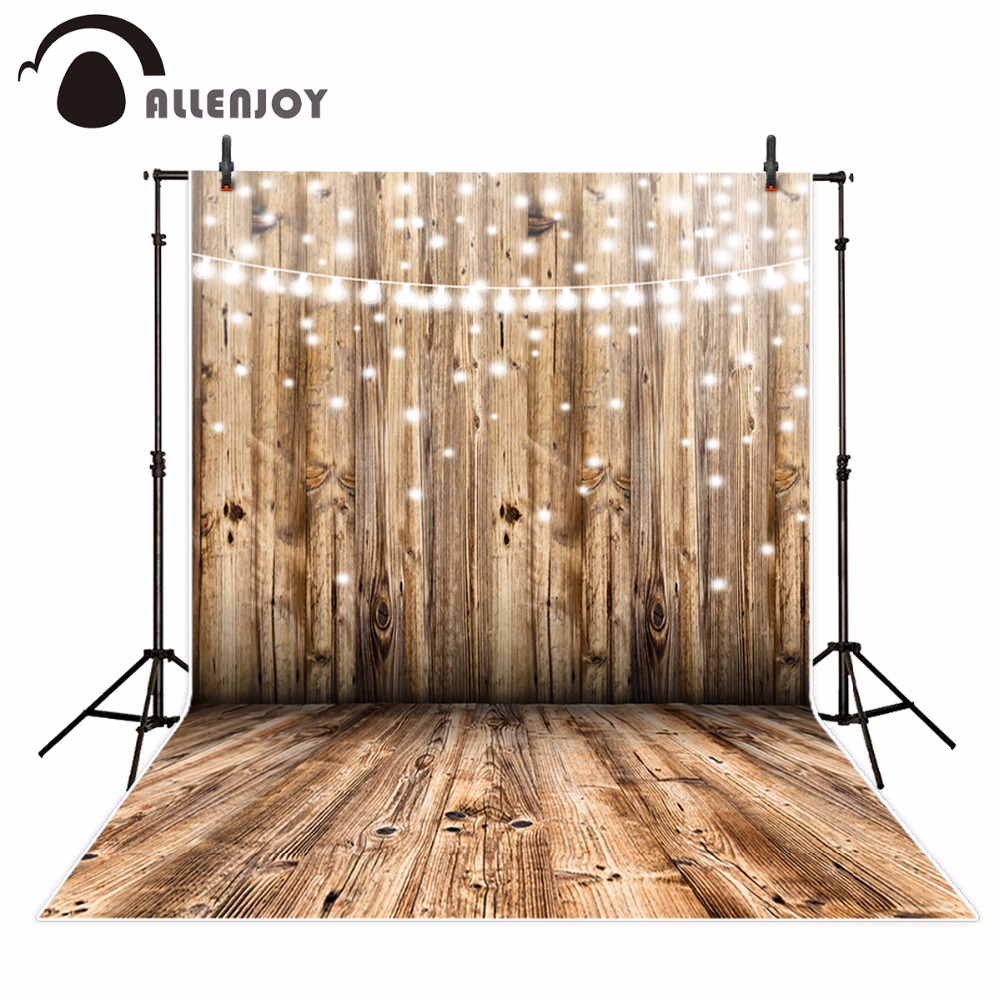 Allenjoy glitter wood photography backdrop plank shiny decor wooden Background photo studio photo booth photocall new celebrate