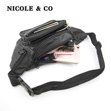 NICOLE & CO Genuine Leather Coin Purse Womens Sheepskin Change Purse Metal Hasp Closure Card Holder Wallet Zipper Small Bag