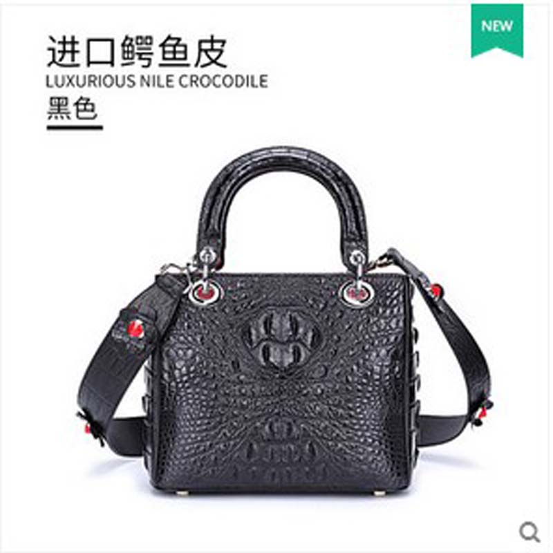 persale gete 2017 new hot free shipping crocodile leather wome handbag thailand single shoulder bag handbag lady oxyfashion slideup универсальный размер m 4 3 5 black