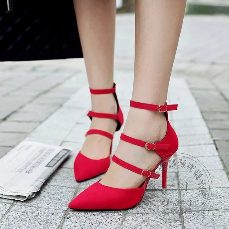 Closed Toe Leisure Office Lady Shoes font b Woman b font Pumps Stiletto Heels Pointed Toe