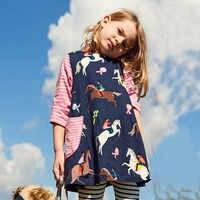Mètres de saut Robe licorne bébé Fille vêtements 2018 automne Robe Enfant Fille à manches longues filles cheval robes Costume de princesse