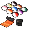 77mm Graduated Color Lens Filter Kit+ Cleaning Pen+Filter Pocket for Canon Nikon Sony 77mm Thread Size Camera Lens