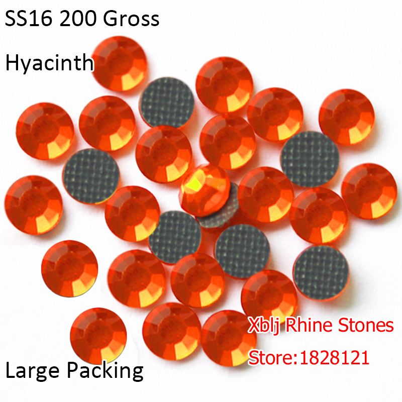 Wholesale Large Packing Orange Color 200 Gross 4mm SS16 Hyacinth Gray Glue Glass  DMC Hotfix Rhinestones For Shoes Accessories-in Rhinestones from Home ... 9ba57ae8c8a4