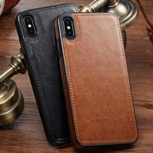 For iPhone XS Max XR  Case Luxury PU Leather Magnetic Absorption Back Cover for iphone X 8 7 6 6S Plus