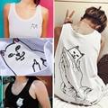 SEÑOR CRANE 2016 Hombres y Mujeres de Verano Divertido Tank Top Chaleco Sin Mangas Camiseta Superior Femenina