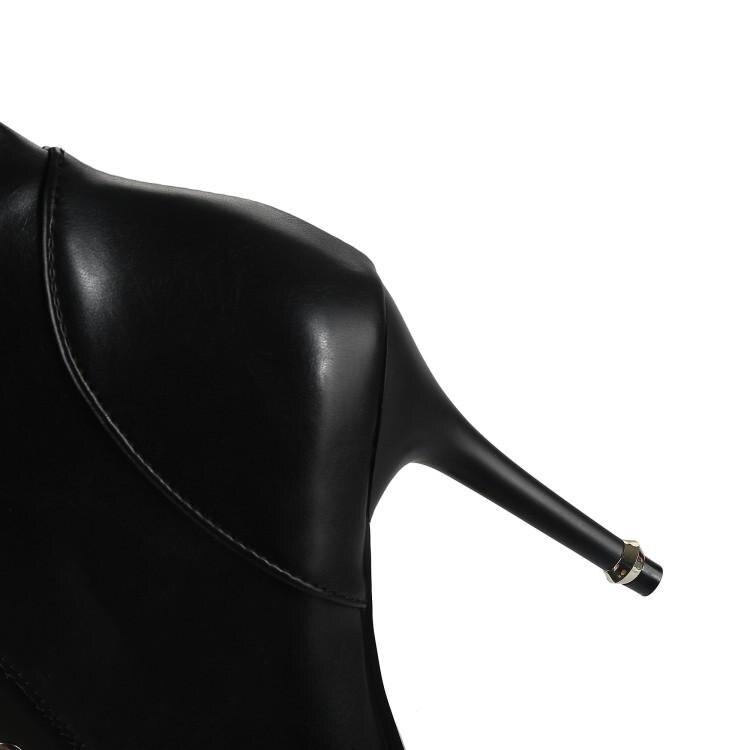 Pointu Lace Hauts Plus Automne Up À Talon 2019 Taille Bottes Mince Bout Femmes Nouveau Lady Xjrhxjr White La Cheville 32 Croix black attaché Talons 46 UaOxwX6q