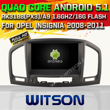 WITSON Android 5.1 Quad Core CAR DVD for OPEL INSIGNIA 2008-2011 GPS RADIO STEREO+1024X600 SCREEN+DVR/WIFI/3G+DSP+RDS+16GB flash
