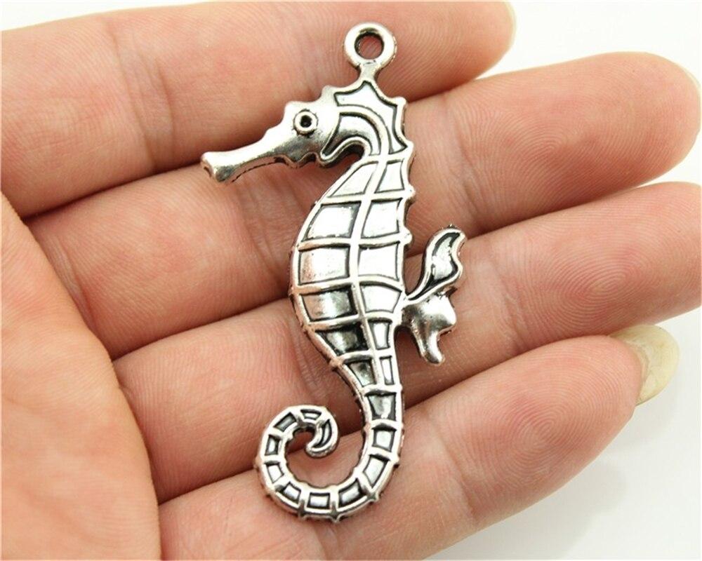 20 un Mar Caballo encantos encantos de plata antigua Mar Caballo Colgantes Colgante 29x12mm