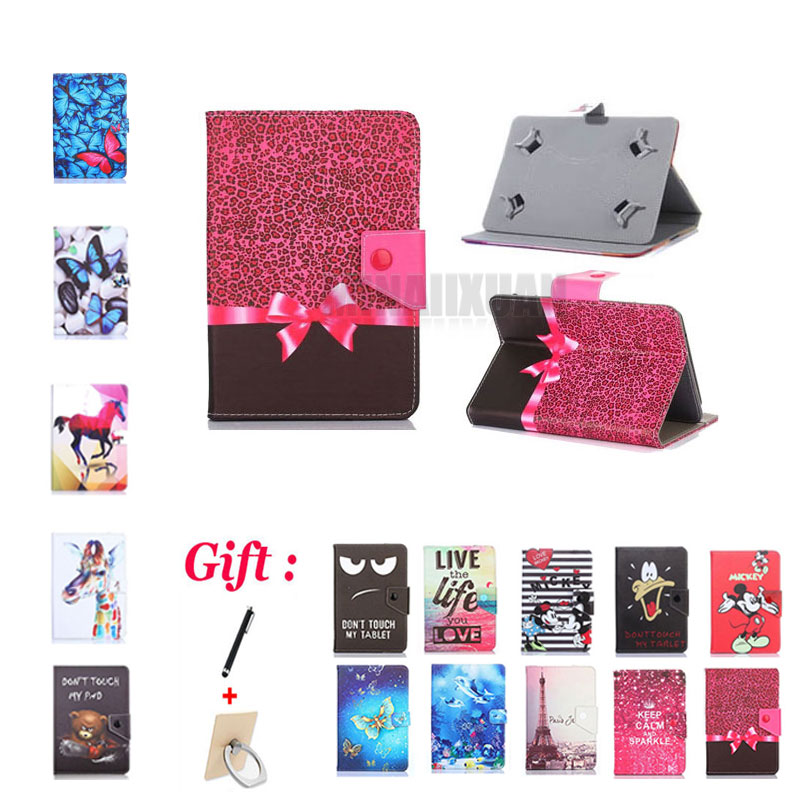 (No camera hole) Universal Cover for Asus MeMo Pad 7 ME572C/ME572CL/ME172V/ME173X 7 inch Tablet Printed PU Leather Stand Case