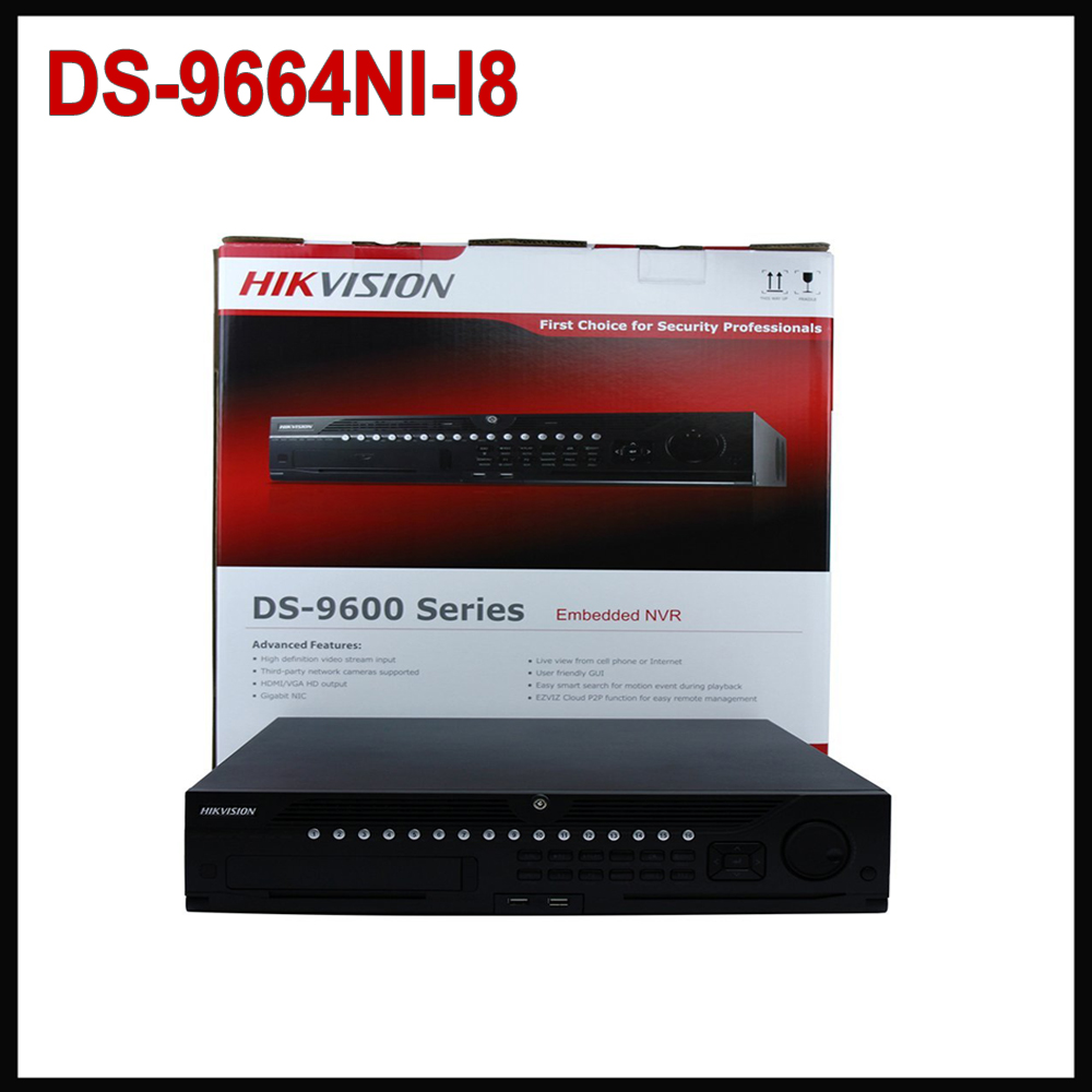 Hik DS-9664NI-I8 English Version Stardot Embedded 4K 64 Channel NVR 8 SATA, Up to 12MP, HDMI Resolution (Can Be Update) gsm temperature humidity monitor power status remote controller