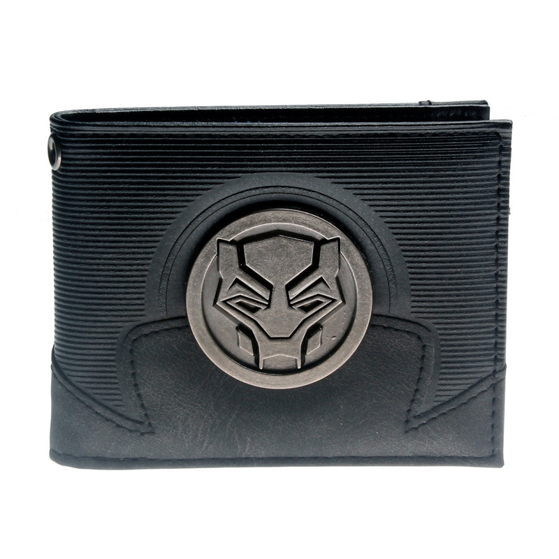 Black Panther Bifold Wallet Purse DFT-3144