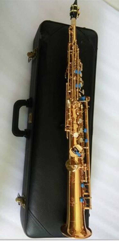 Straight Soprano Saxophone YSS-82Z High-pitch Bb Split Soprano Saxophone B Flat Saxe Top Musical Instrument sax Saxofone brand new soprano saxophone yss 475 bronze b flat playing professionally one straight top musical instruments professional grade
