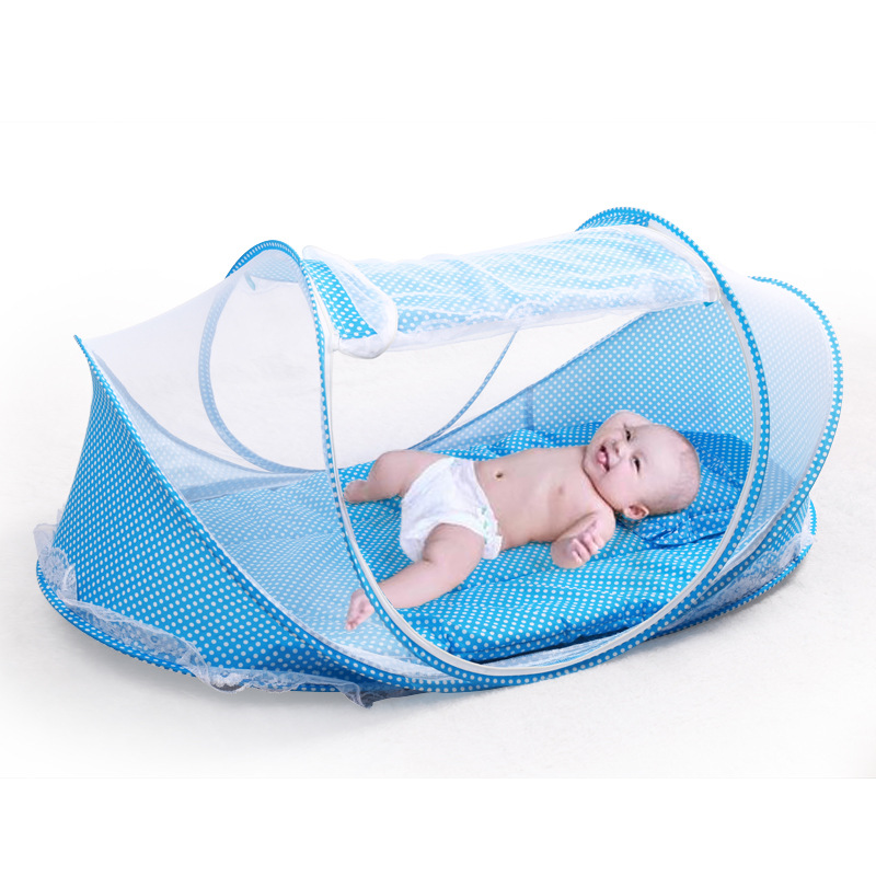 3pcs Folded mosquito net baby mongolian yurt mosquito netting crib summer outdoor 1-18 months babies insect net easy to carry