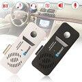 Black White Bluetooth Multipoint Wireless Handsfree Car Sun Visor Speaker Phone Speakerphone With Car Charger