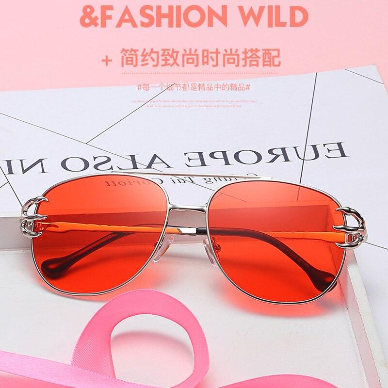 12c6ba679bb19 Red Sunglasses for Girl Lady Skeleton Hand Metal Frame Shades for Women Fashion  Eyewear Oculos De Sol Feminino 7765X