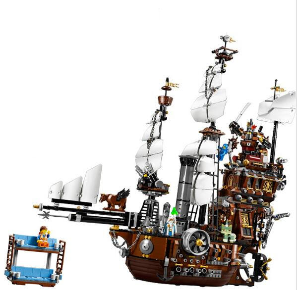 LEPIN 16002 Pirate Ship Metal Beard's Sea Cow Model Building Kit Block 2791Pcs Bricks Toys Gift For Children Caribbean 70810 lepin movie pirate ship metal beard s sea cow model building blocks kits marvel bricks toys compatible legoe
