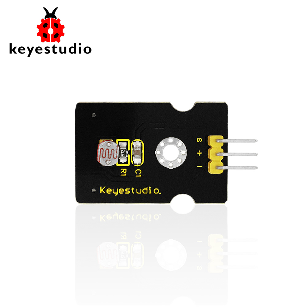 Free Shipping !Keyestudio Photoresistor Light Dependent Resistor Sensor Module For Arduino UNO R3