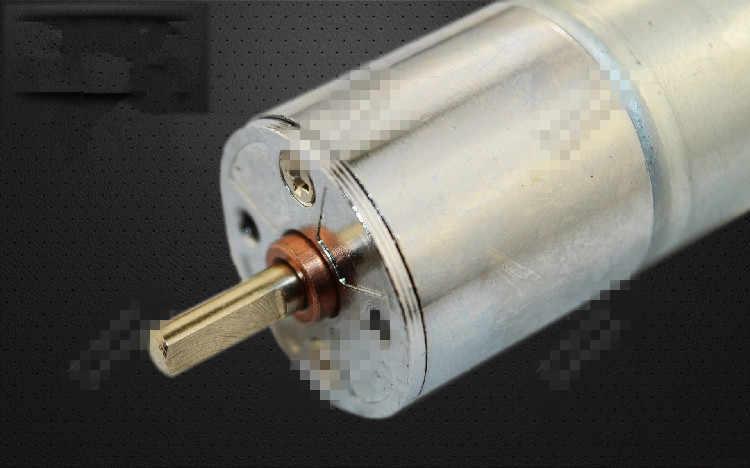 ZGA25RQ Gear Motor 25mm Miniature DC Gear Motor 3V 6V 12V Output Shaft Center