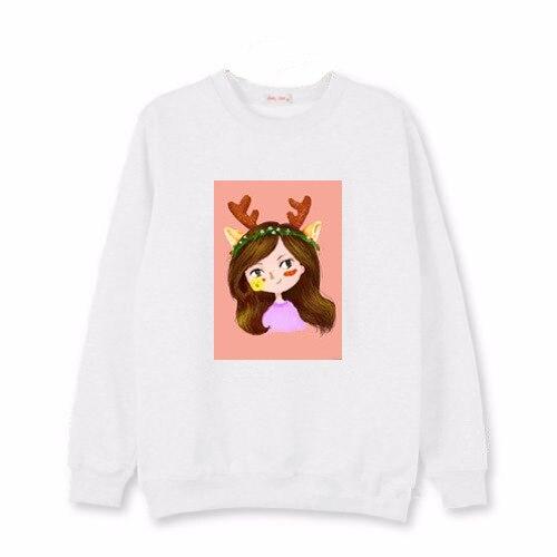 Kpop TWICE Spring autumn thin paragraph loose Cartoon Print women sweatshirts korean cotton Casual kawaii Harajuku women hoodies