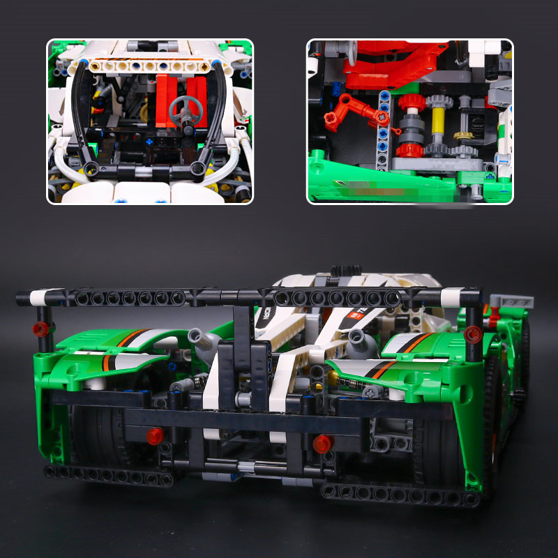 IN STOCK LEPIN 20003 Technic Series The 24 hours Race Car Building Assembling Blocks Bricks 1280 pcs Toys Compatible with 42039 china brand 3364 educational toys for children diy building blocks 42039 technic 24 hours race car compatible with lego