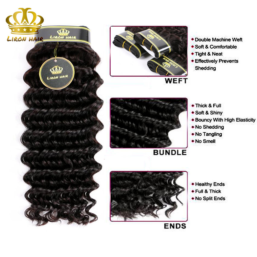 Queen 13x4 Lace Frontal Closure With Bundles Brazilian Virgin Hair Deep Wave With Closure 3 Bundles Human Hair With Lace Closure (4)